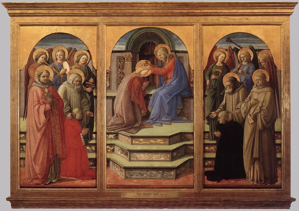 Filippo Lippi, Incoronazione della Vergine con angeli e santi detta Incoronazione Marsuppini