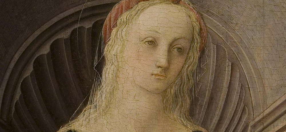 Filippo Lippi, Madonna col Bambino di Montespertoli, dettaglio del volto