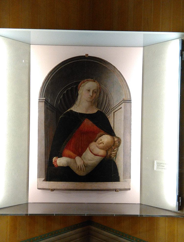 Filippo Lippi, La Madonna col Bambino nella sua collocazione a Montespertoli