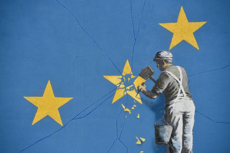 Brexit: Banksy la racconta a modo suo