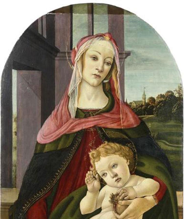 Una Madonna della melagrana di Botticelli e bottega all'asta a Parigi