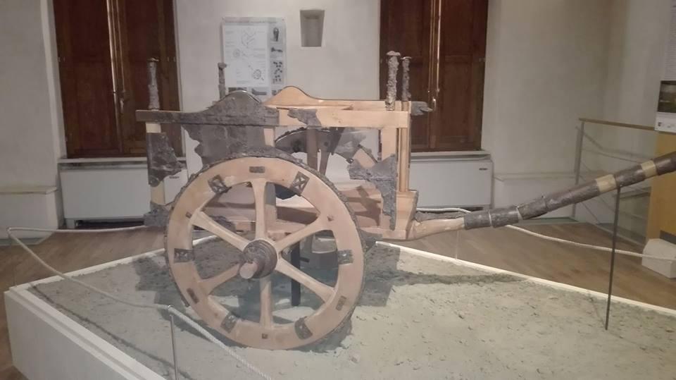 Siena: il prezioso carro del principe etrusco visibile al pubblico