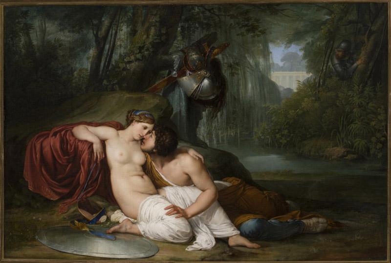 Francesco Hayez, Rinaldo e Armida (1812-1813; olio su tela, 198 x 295 cm; Venezia, Galleria dell'Accademia)