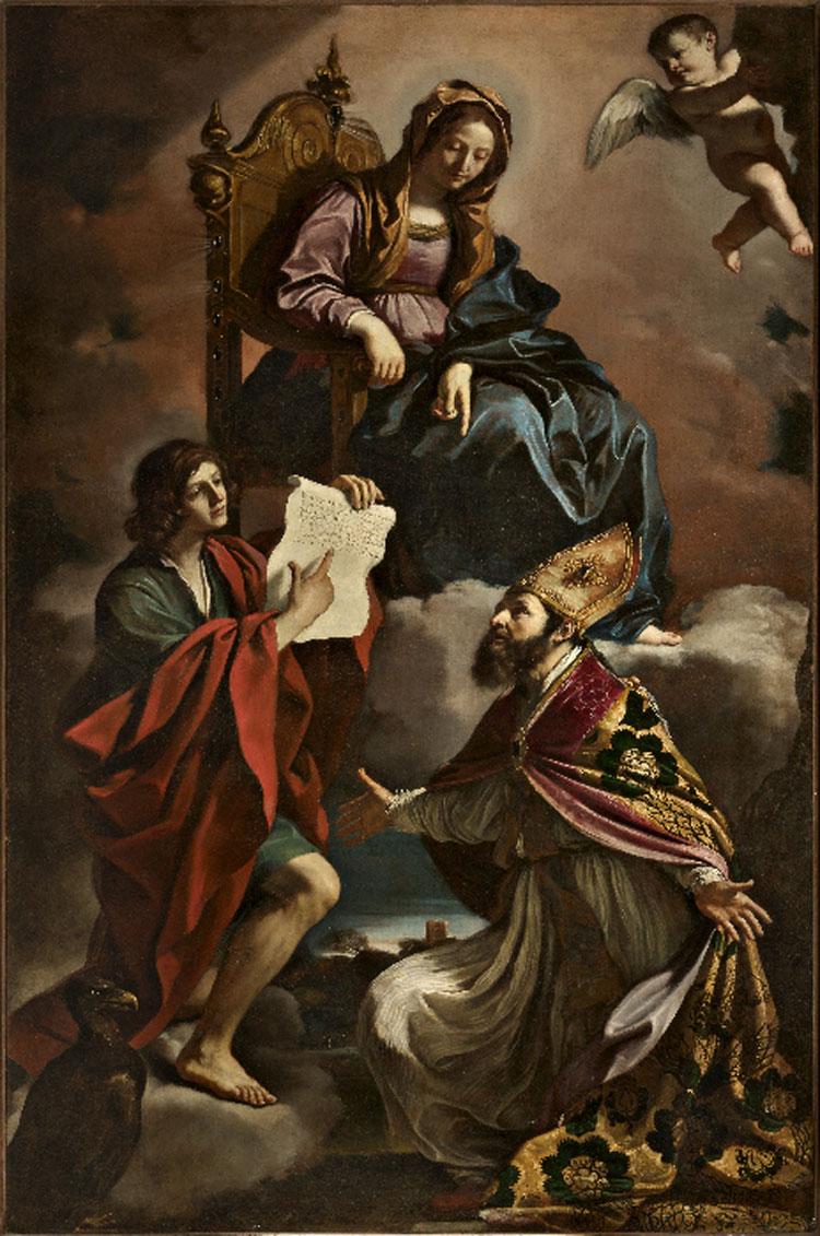 Guercino, Madonna col Bambino e i santi Giovanni Evangelista e Gregorio Taumaturgo