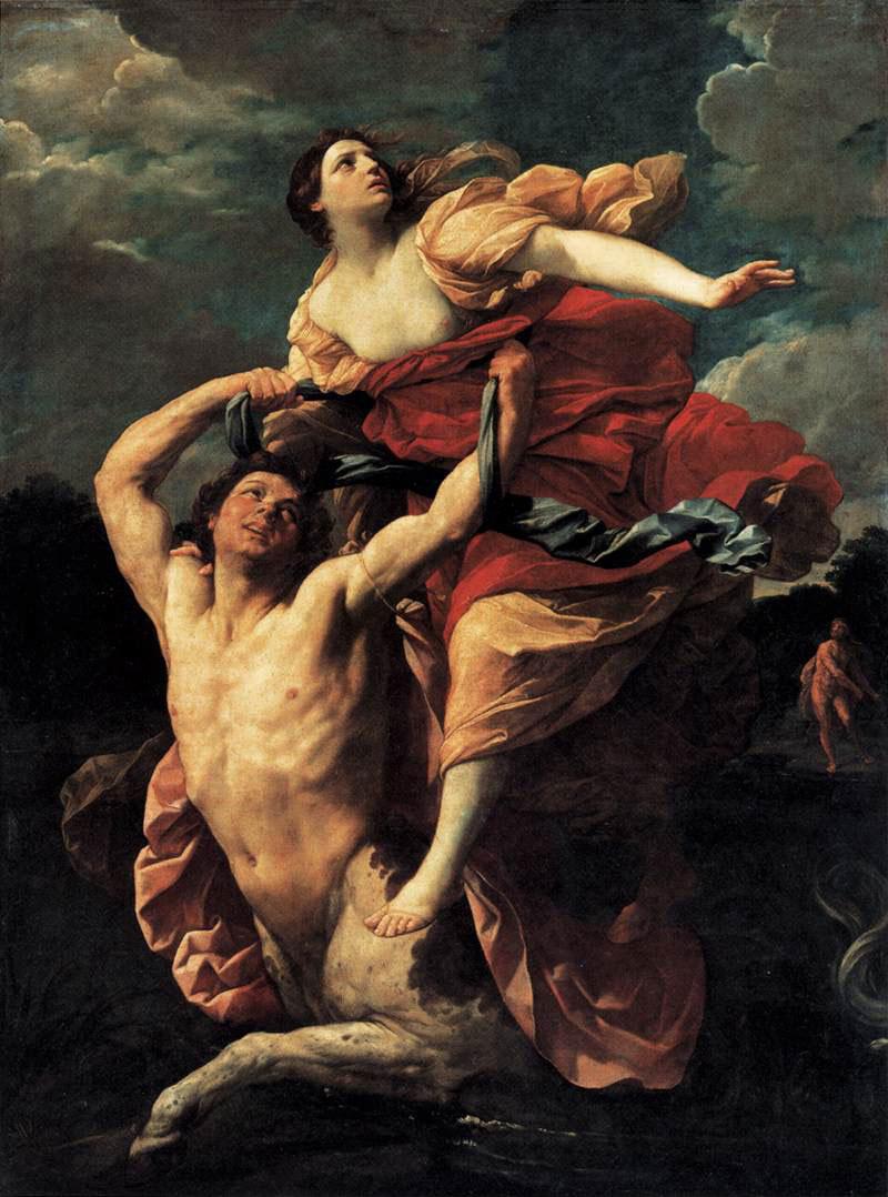 Nesso rapisce Deianira di Guido Reni in prestito dal Louvre alla Pinacoteca Nazionale di Bologna