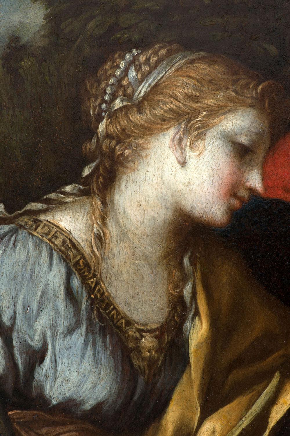 Restaurato il dipinto di Pietro da Cortona che raffigura la Madonna col Bambino e santa Martina