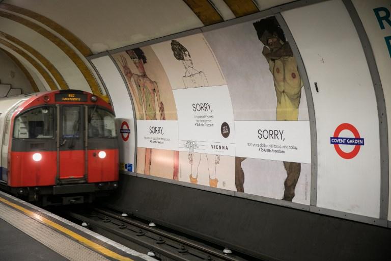 Londra censura Schiele nella metro, e Vienna risponde con provocatoria intelligenza