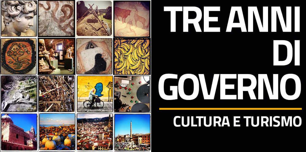 Cultura e turismo. Tre anni di governo