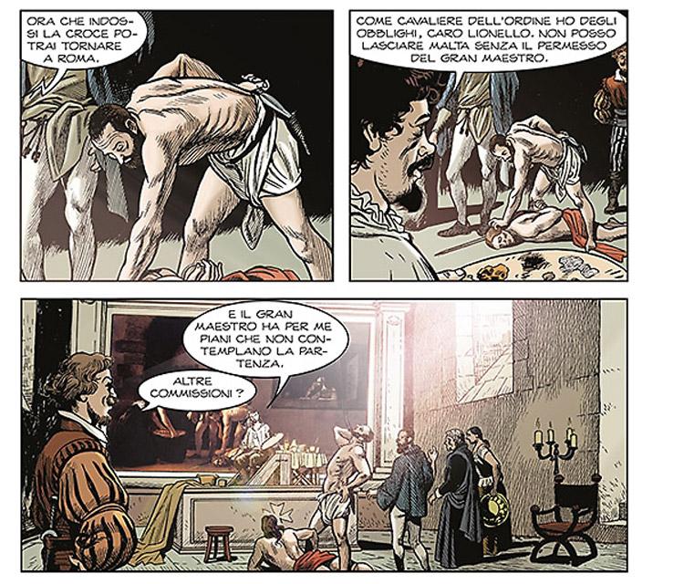 Uccidete Caravaggio: un sicario sulle tracce del pittore in una nuova graphic novel