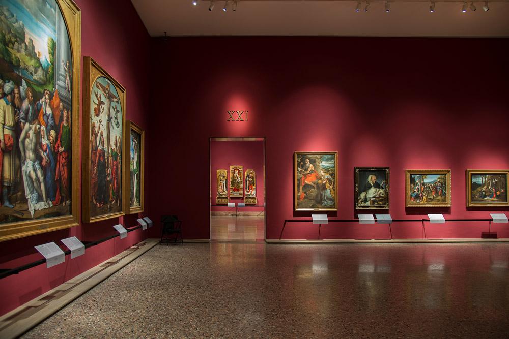 Sala XXI della Pinacoteca di Brera