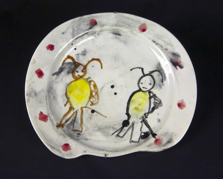 Bambini di Asger Jorn, Piatto, Secondo esperimento della Bauhaus immaginista