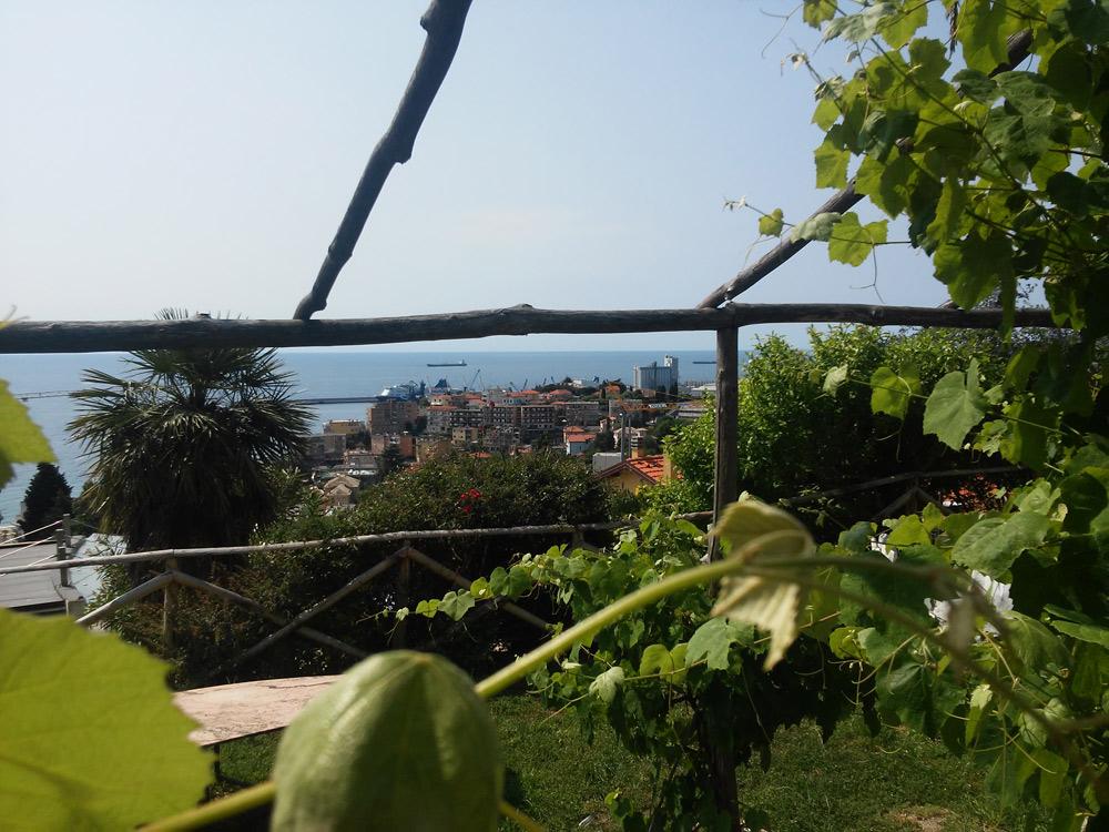 Il panorama dal giardino di Casa Jorn