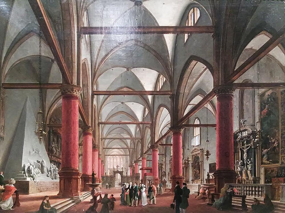 Giuseppe Borsato, Leopoldo Cicognara illustra il monumento di Canova ai Frari