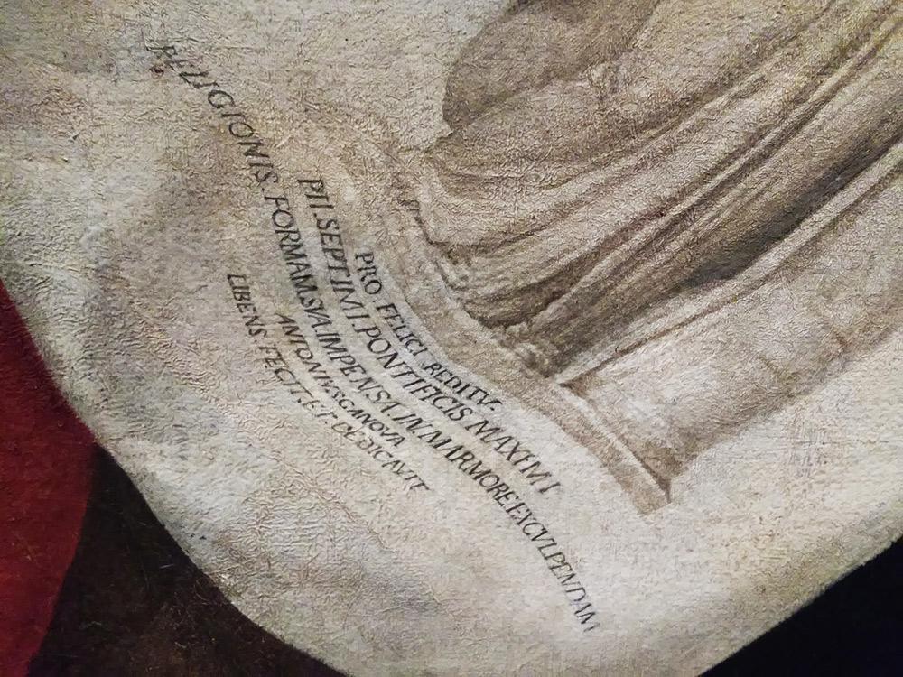 Francesco Hayez, Ritratto della famiglia Cicognara, dettaglio