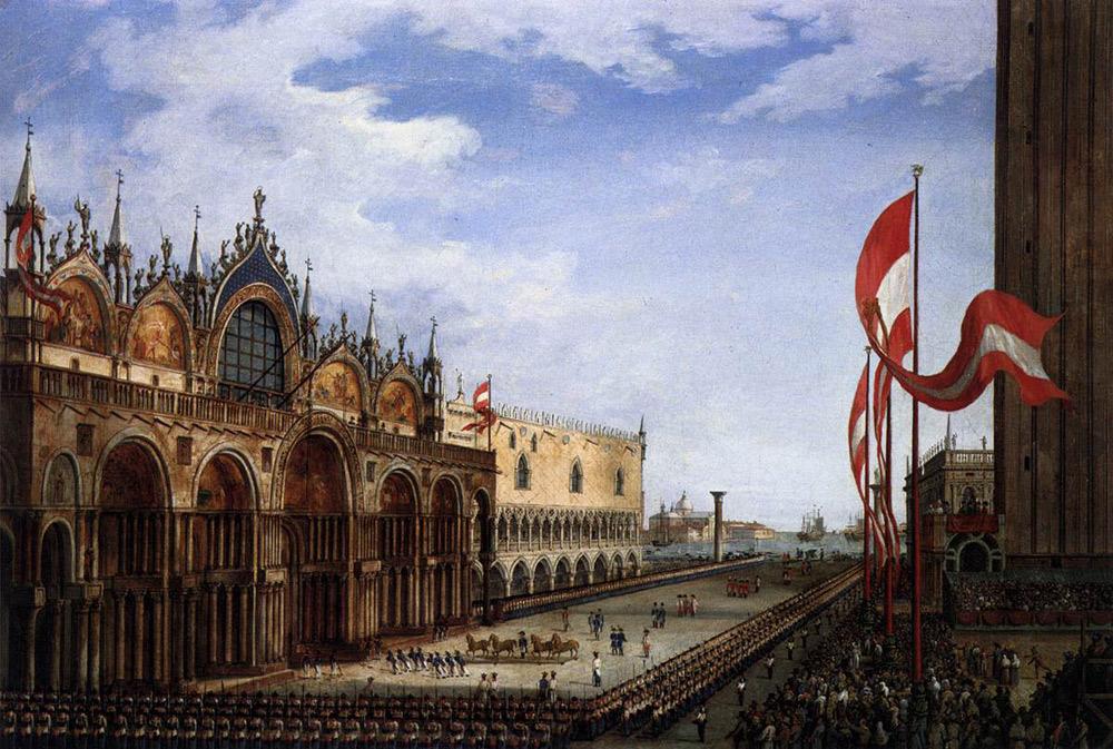 Vincenzo Chilone, La cerimonia del ricollocamento dei cavalli bronzei sul pronao della basilica di San Marco