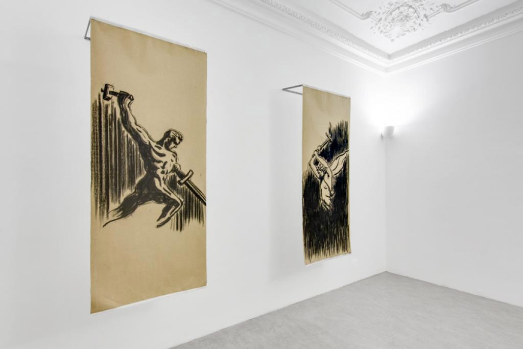 Allestimento della mostra Giorni di un futuro passato presso Alberto Peola Artecontemporanea