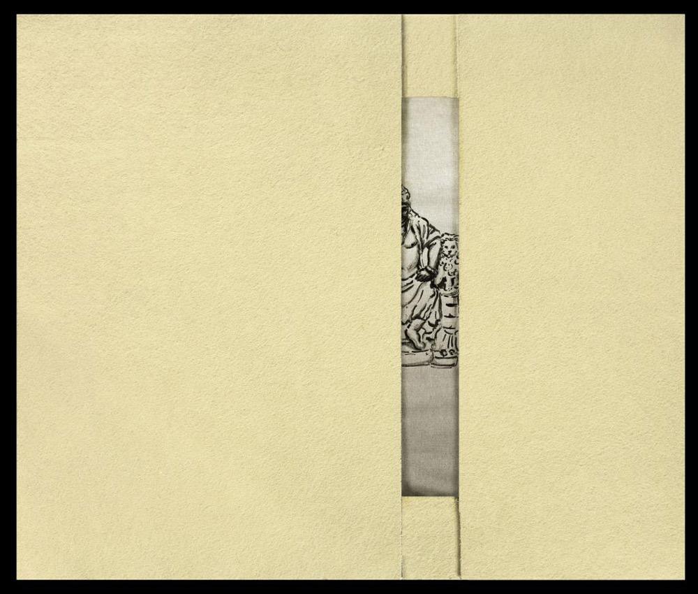 Cosimo Veneziano, Senza titolo (dalla serie Petrolio; 2015; disegno a china su tela, feltro industriale, 80 x 100 cm; Courtesy Alberto Peola Artecontemporanea
