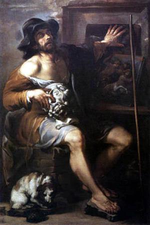 Livio Mehus, Ritratto di Giovanni Gonnelli detto il Cieco di Gambassi