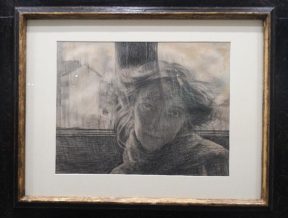 Umberto Boccioni, Controluce (1910; matita e inchiostro su carta, 36 x 49 cm)