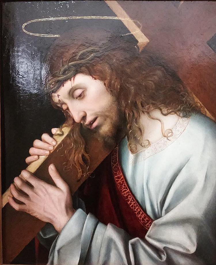 Giovan Francesco Maineri, Cristo portacroce (post 1506; olio su tavola, 50 x 42 cm; Firenze, Gallerie degli Uffizi)