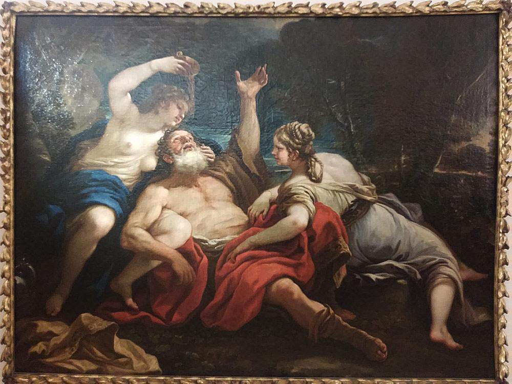 Luca Giordano, Lot e le figlie (1686; olio su tela, 122 x 173 cm; Firenze, Museo Stibbert)