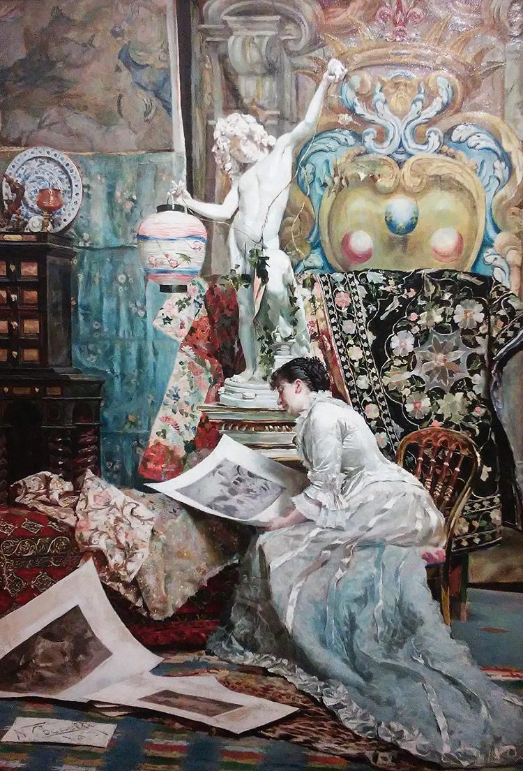 Napoleone Coccetti, Au salon (1881; olio su tela;  Firenze, collezione privata)