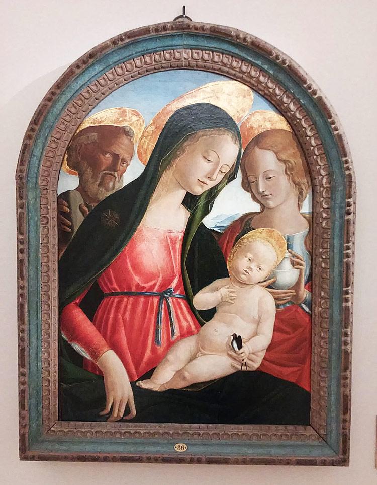 Neroccio di Bartolomeo dei Landi, Madonna con il Bambino e i santi Girolamo e Maria Maddalena (1496-1499 circa; tempera mista su tavola, 71,5x52 cm; Firenze, Museo Fondazione Horne)