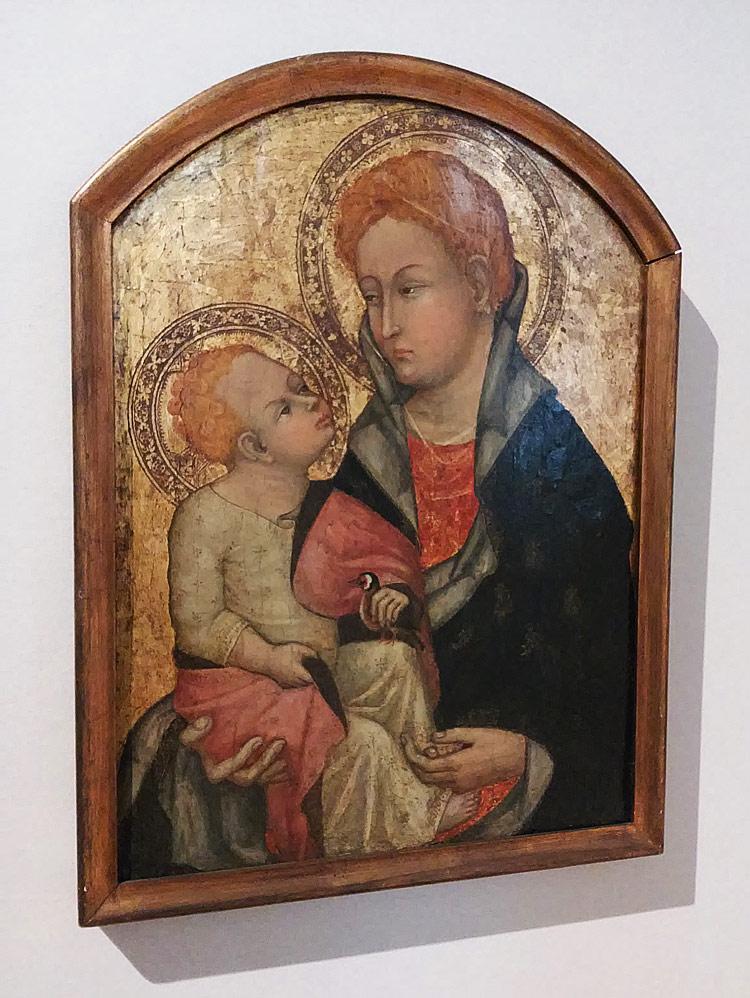 Ottaviano Nelli, Madonna con il Bambino (tempera e oro su tavola, cm 65,8 x 48,3; Roma, Museo Nazionale del Palazzo di Venezia)