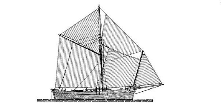 Disegno di un navicello