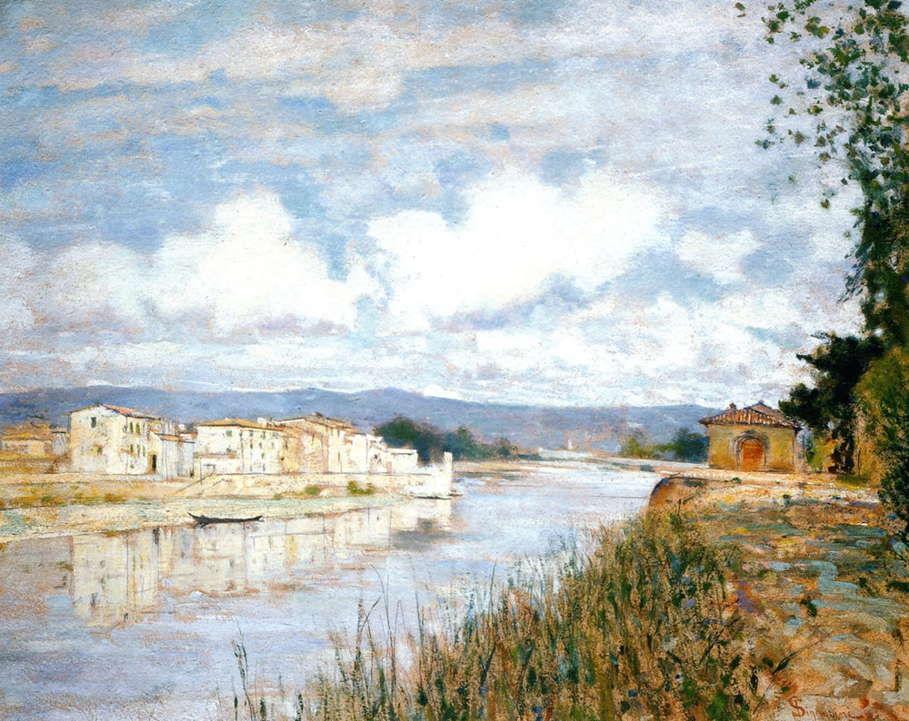 Telemaco Signorini, Limite sull'Arno