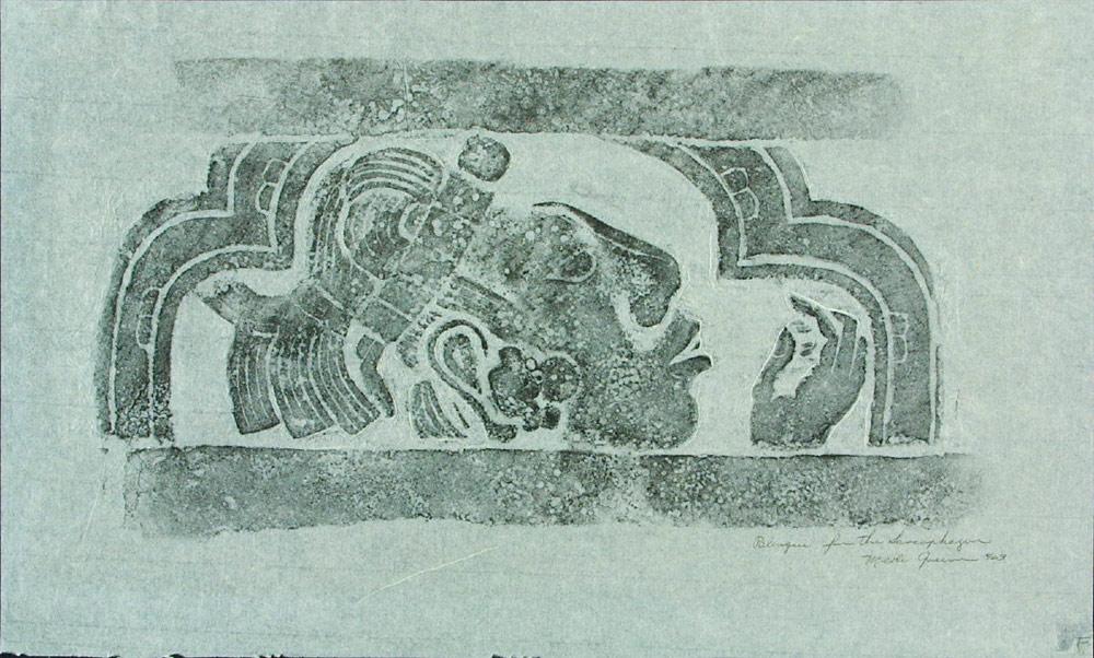 Merle Greene, Ricalco di un sarcofago di Palenque