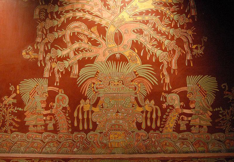 Il murale di Tepantitla in una riproduzione conservata al Museo Nazionale di Antropologia di Città del Messico. Ph. Credit Thomas Aleto