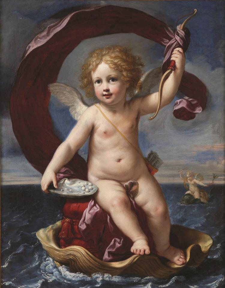 Elisabetta Sirani, Amorino trionfante in mare o Amorino Medici