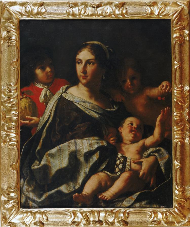Elisabetta Sirani, Anna Maria Ranuzzi ritratta come la Carità