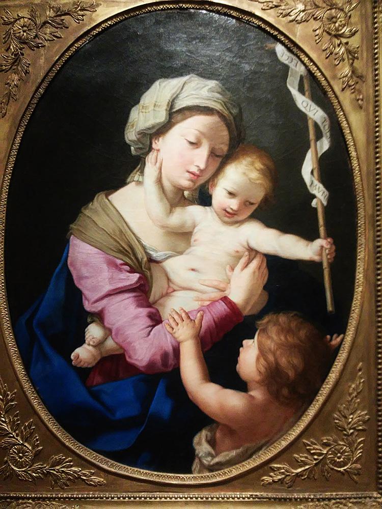 Elisabetta Sirani o Giovanni Andrea Sirani, Madonna col Bambino e san Giovannino