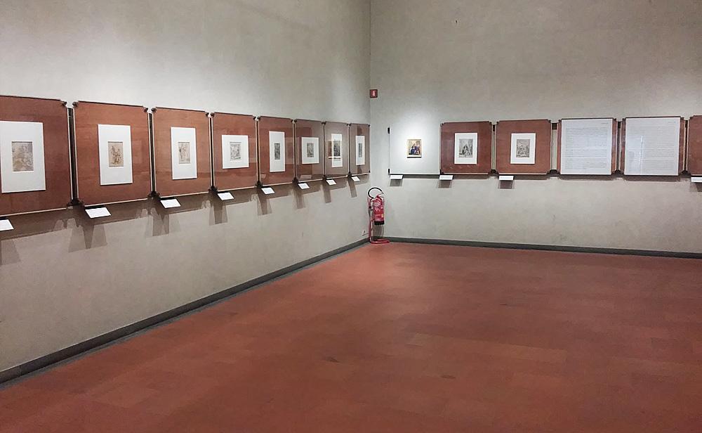 """Sala della mostra Dipingere e disegnare """"da gran maestro"""": il talento di Elisabetta Sirani"""