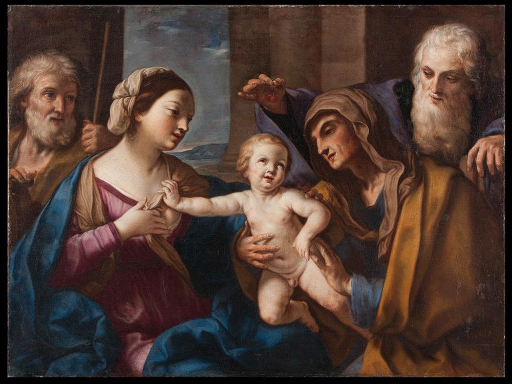 Elisabetta Sirani, Sacra famiglia con sant'Anna e san Gioacchino