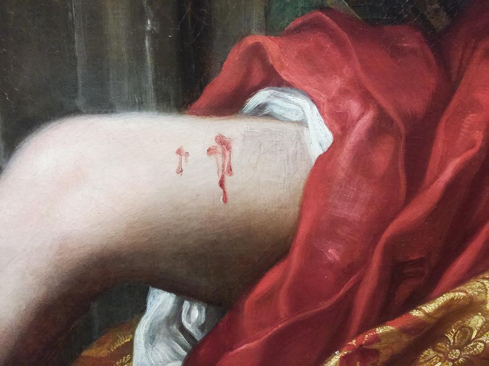 Il sangue sulla coscia di Porzia