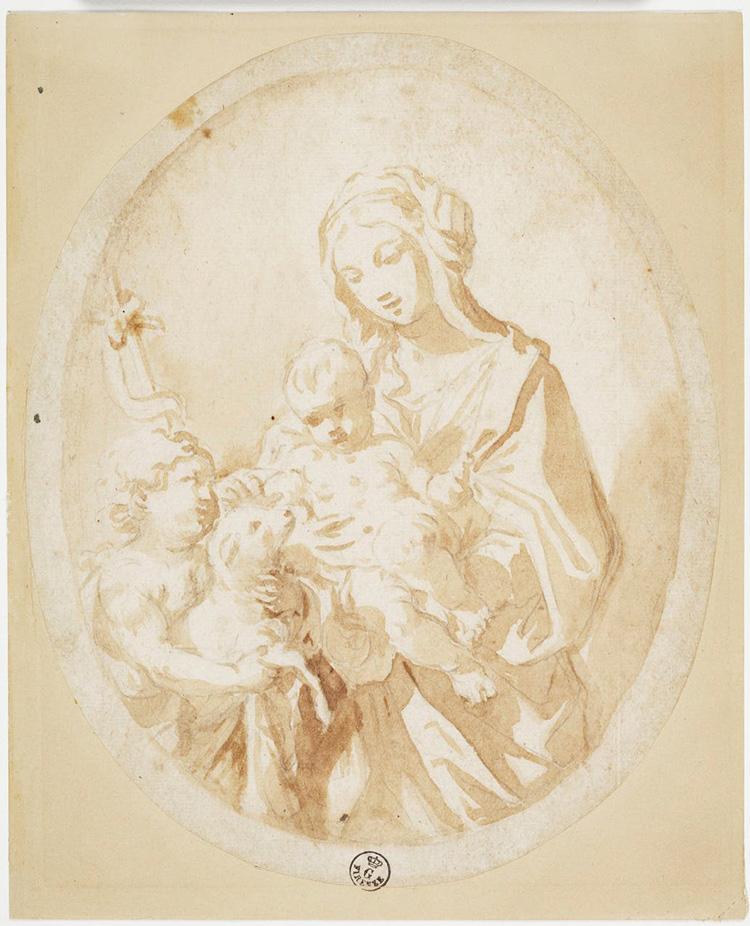 Giovanni Andrea Sirani, Madonna col Bambino e san Giovannino