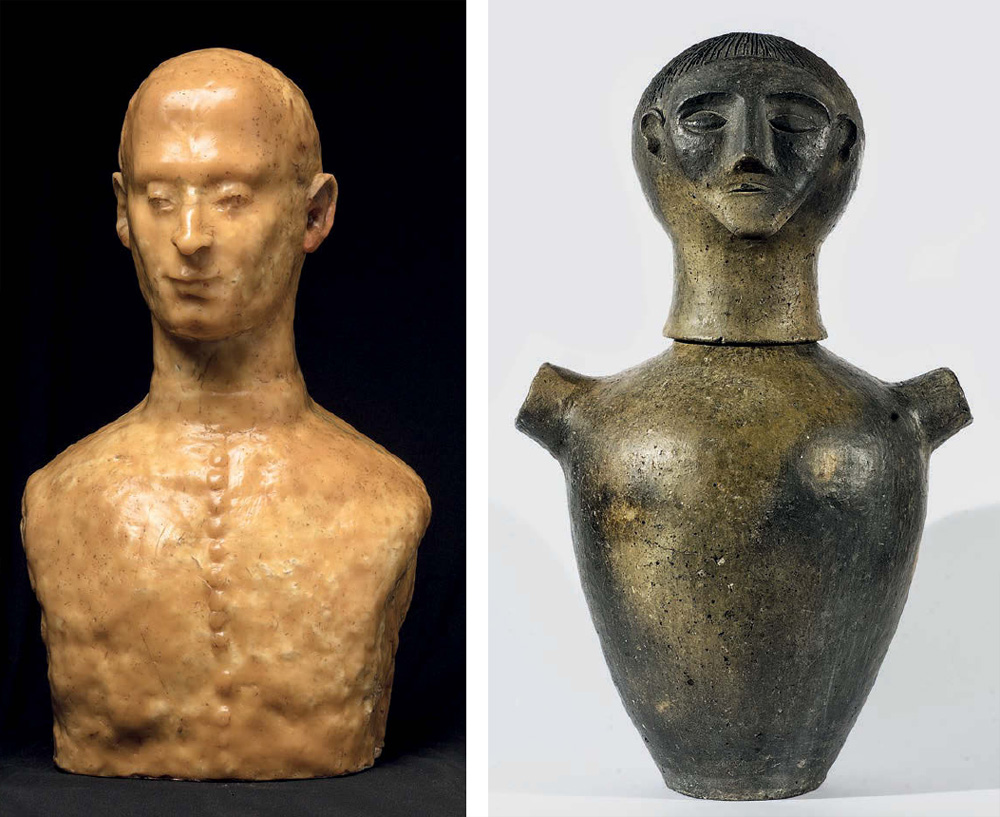 Marino Marini, Busto di prelato e Canopo etrusco