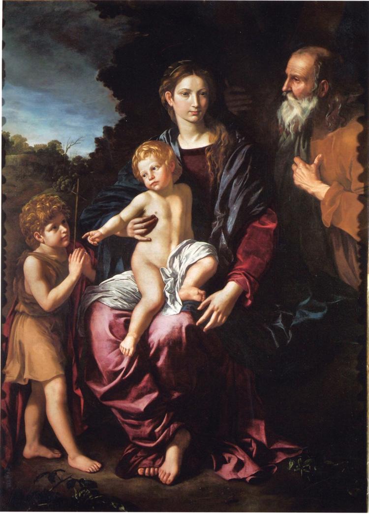 Bartolomeo Cavarozzi, Sacra famiglia con san Giovannino (Robilant+Voena)