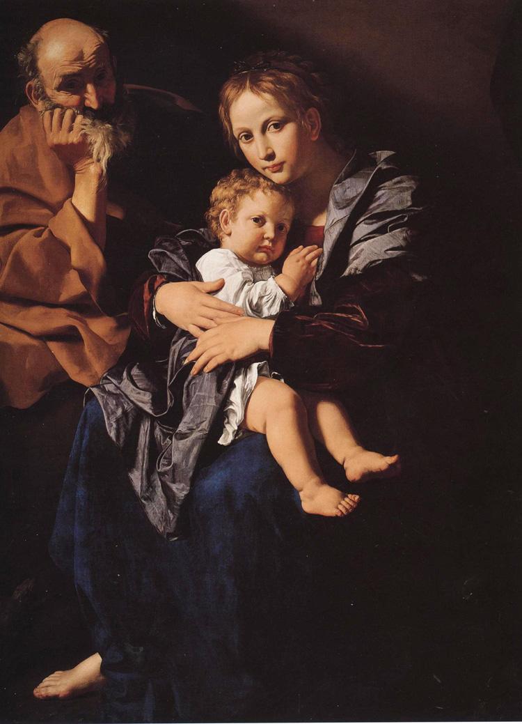 Bartolomeo Cavarozzi, Sacra famiglia (Torino, Collezione privata)