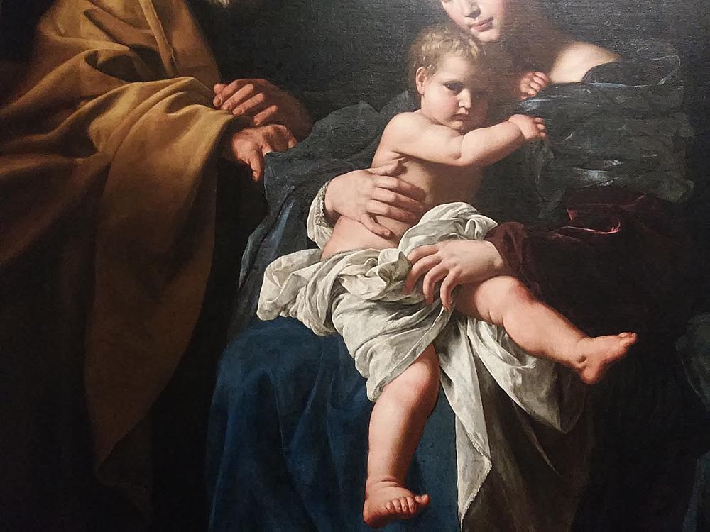 Bartolomeo Cavarozzi, Sacra famiglia (Pinacoteca dell'Accademia Albertina), dettaglio