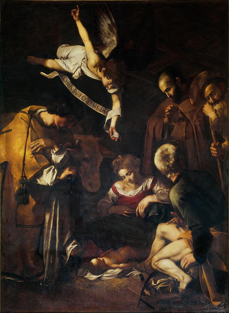 Michelangelo Merisi da Caravaggio, Natività (1600; olio su tela, 268×197 cm; già Palermo, oratorio di San Lorenzo)