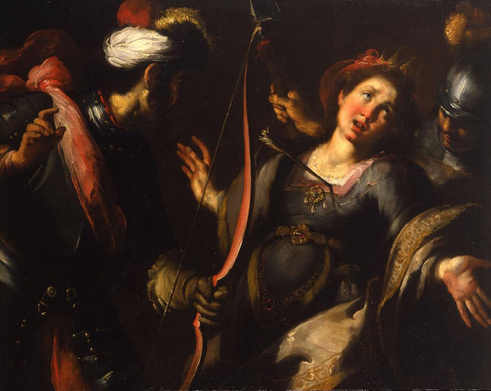 Bernardo Strozzi, Martirio di sant'Orsola (1615-1618, olio su tela, 104 x 130 cm; Collezione privata. Courtesy Robilant+Voena)
