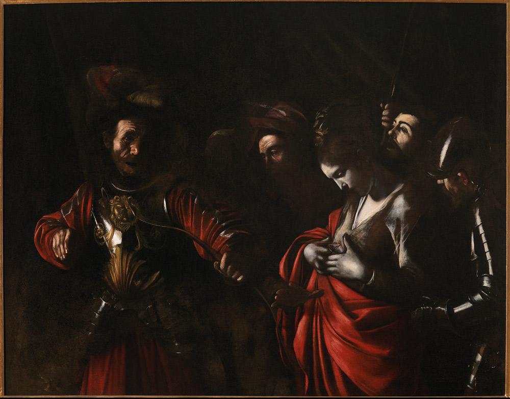 Caravaggio, Martirio di sant'Orsola (1610; olio su tela, 143 x 180 cm; Napoli, Collezione Intesa Sanpaolo, Gallerie d'Italia - Palazzo Zevallos Stigliano)