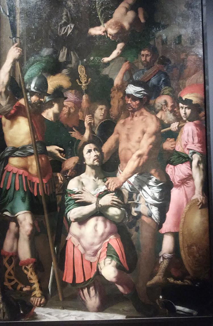 Luigi Miradori detto il Genovesino, Martirio di sant'Alessandro (1630-1635; olio su tela, 288 x 182 cm; Collezione privata)