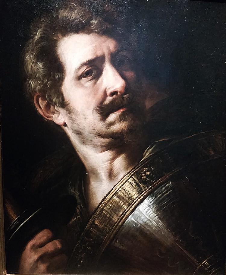 Giulio Cesare Procaccini, Autoritratto in armatura (1615-1618; olio su tavola, 47 x 39 cm; Montichiari, Museo Lechi)