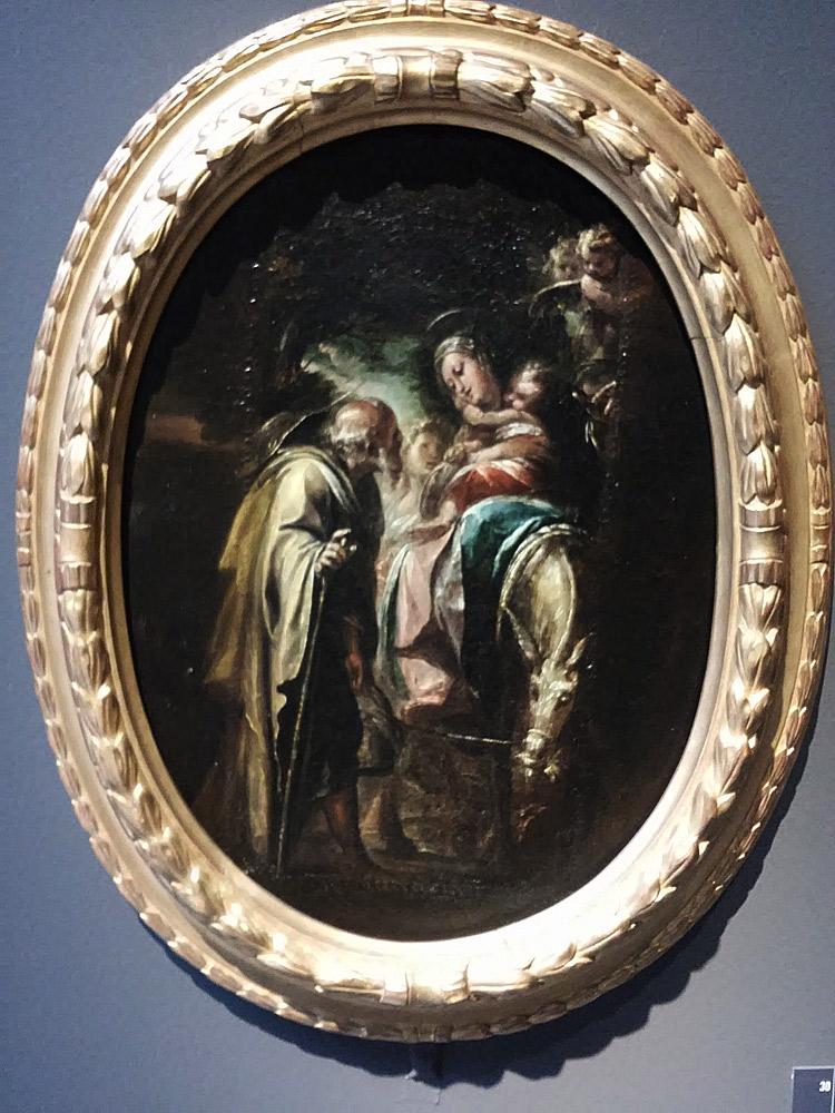 Giulio Cesare Procaccini, Fuga in Egitto (1606-1607 circa, olio su tela, 40 x 21 cm; Bologna, Pinacoteca Nazionale)