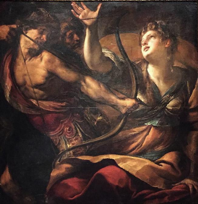 Giulio Cesare Procaccini, Martirio di sant'Orsola (1620-1625; olio su tela, 141 x 144,5 cm; Collezione privata)
